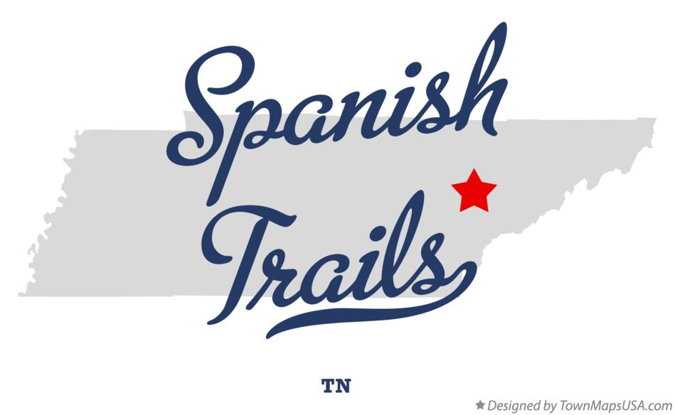 Map of Spanish Trails Tennessee TN