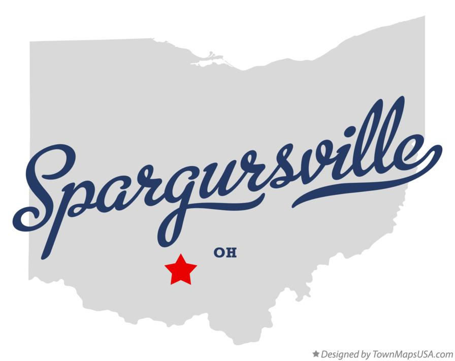 Map of Spargursville Ohio OH