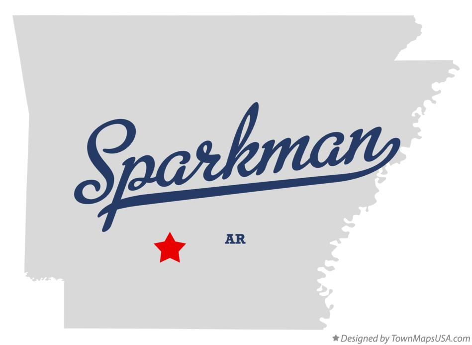 Map of Sparkman Arkansas AR