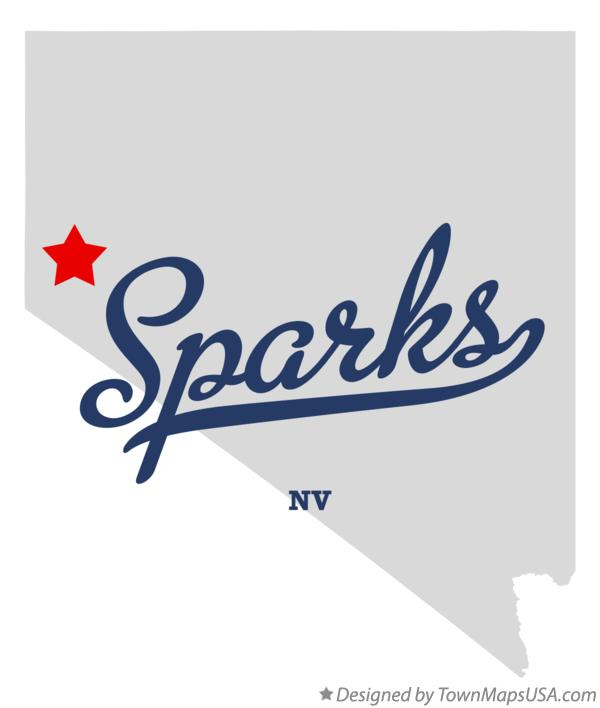 Map of Sparks Nevada NV