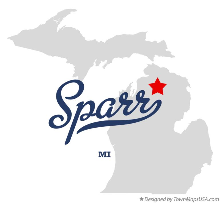 Map of Sparr Michigan MI