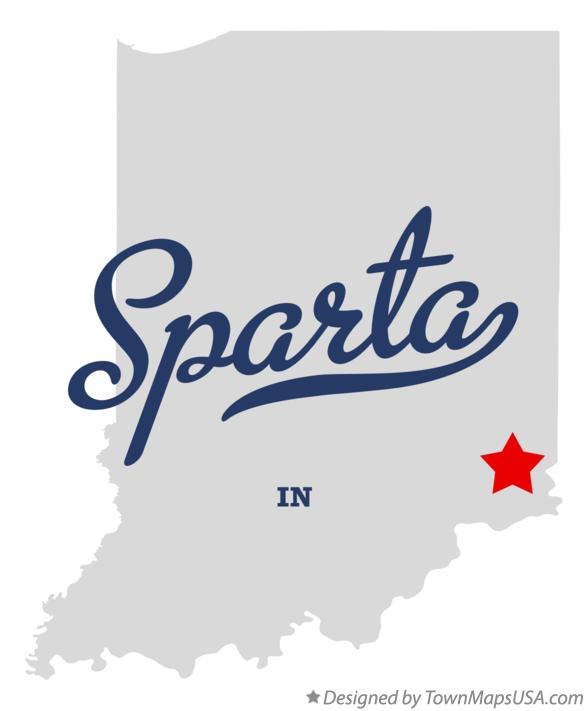 Map of Sparta Indiana IN