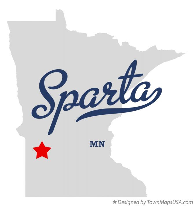 Map of Sparta Minnesota MN