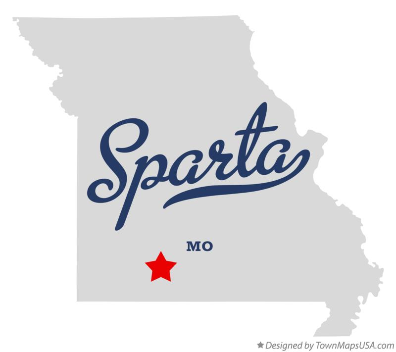 Map of Sparta Missouri MO