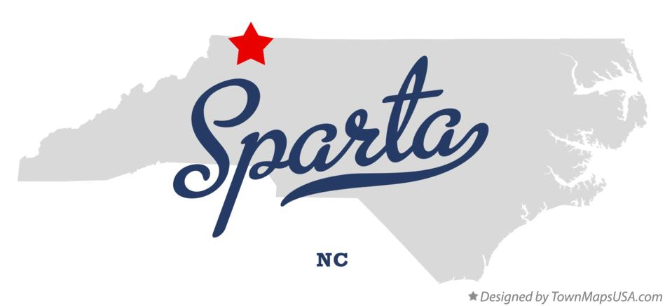 Map of Sparta North Carolina NC