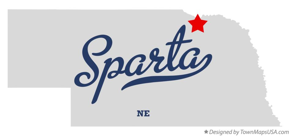Map of Sparta Nebraska NE