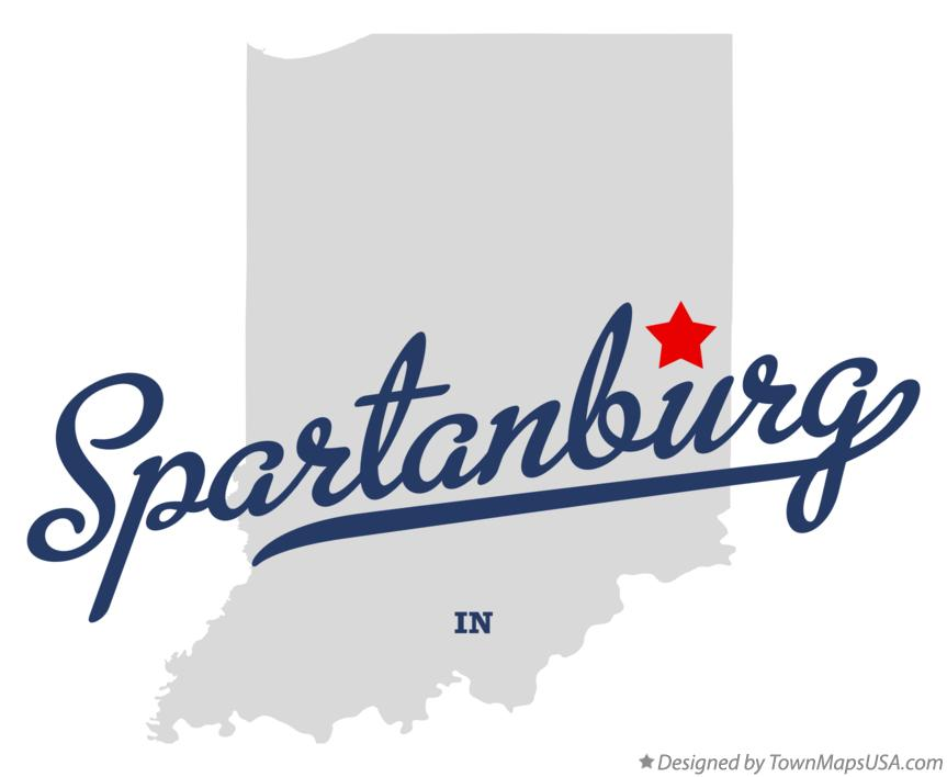 Map of Spartanburg Indiana IN