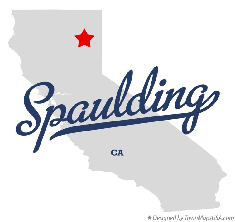 Map of Spaulding California CA