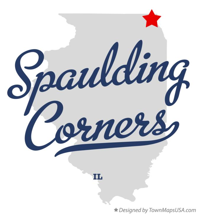 Map of Spaulding Corners Illinois IL