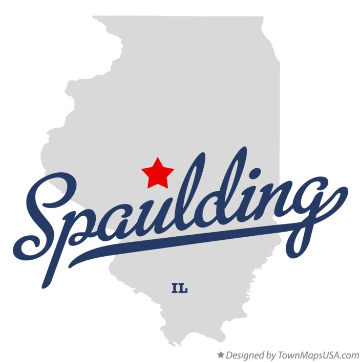 Map of Spaulding Illinois IL