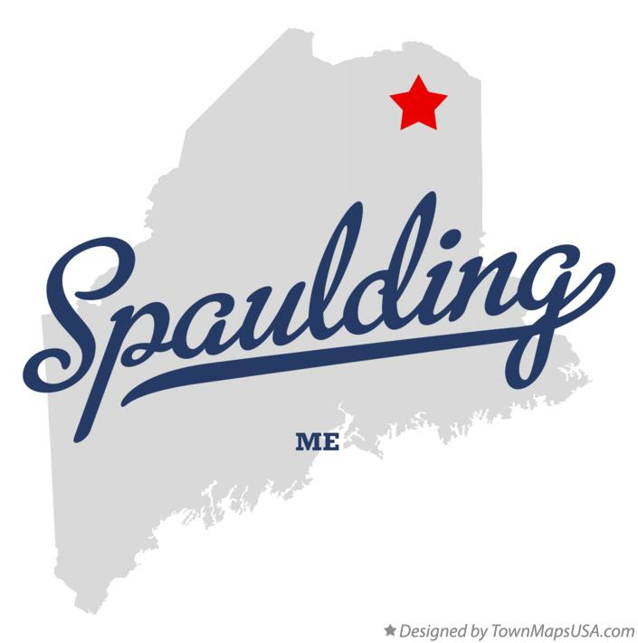 Map of Spaulding Maine ME