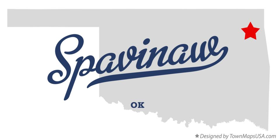 Map of Spavinaw Oklahoma OK