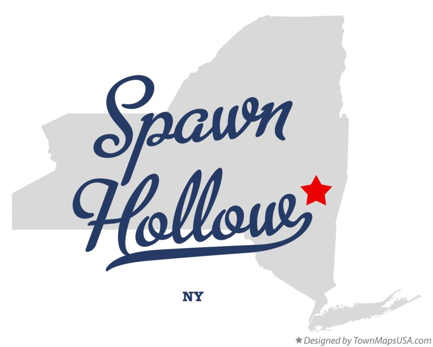 Map of Spawn Hollow New York NY