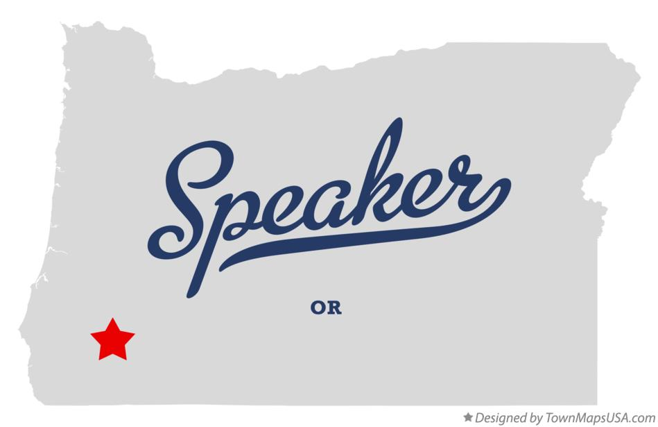 Map of Speaker Oregon OR