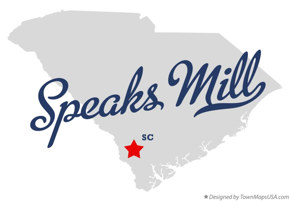 Map of Speaks Mill South Carolina SC