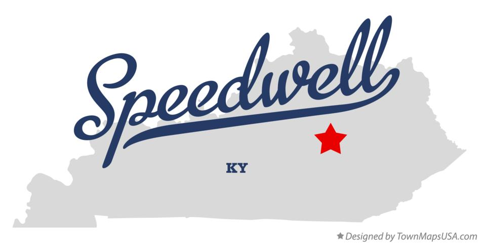 Map of Speedwell Kentucky KY