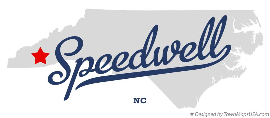 Map of Speedwell North Carolina NC