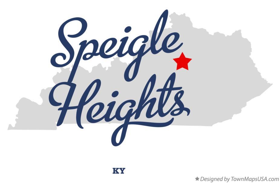 Map of Speigle Heights Kentucky KY