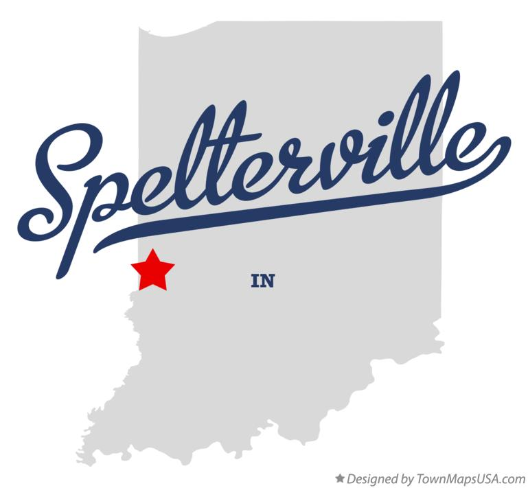 Map of Spelterville Indiana IN