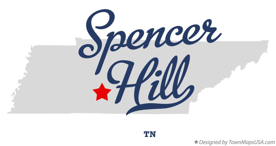 Map of Spencer Hill Tennessee TN