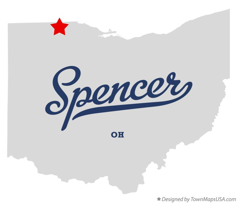 Map of Spencer Ohio OH