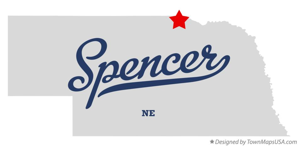 Map of Spencer Nebraska NE
