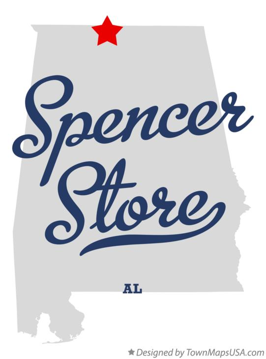 Map of Spencer Store Alabama AL