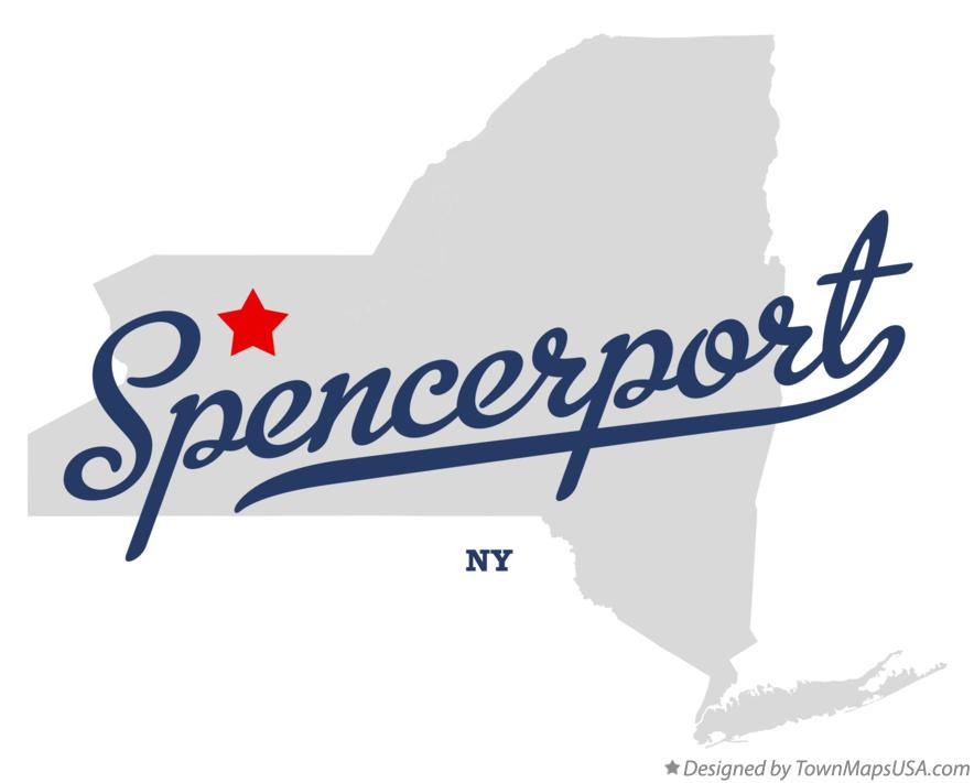 Spencerport New York NY Map professionally designed by GreatCitees.com.