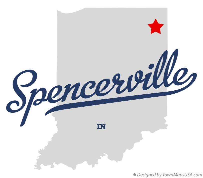 Map of Spencerville Indiana IN