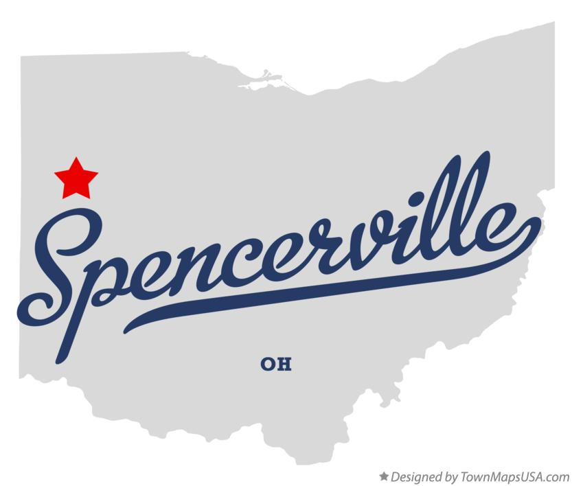 Map of Spencerville Ohio OH