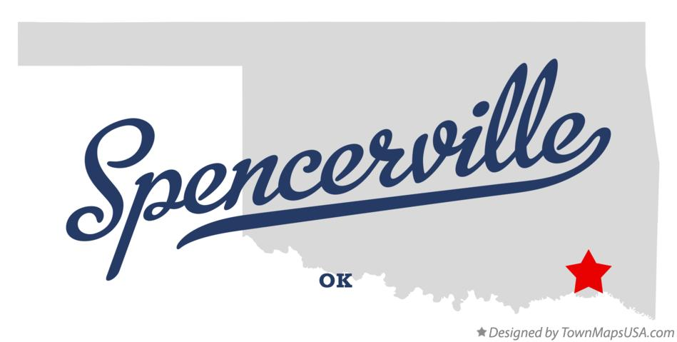 Map of Spencerville Oklahoma OK