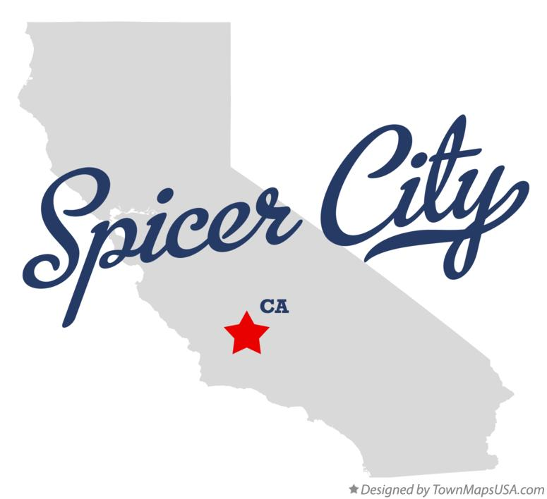 Map of Spicer City California CA