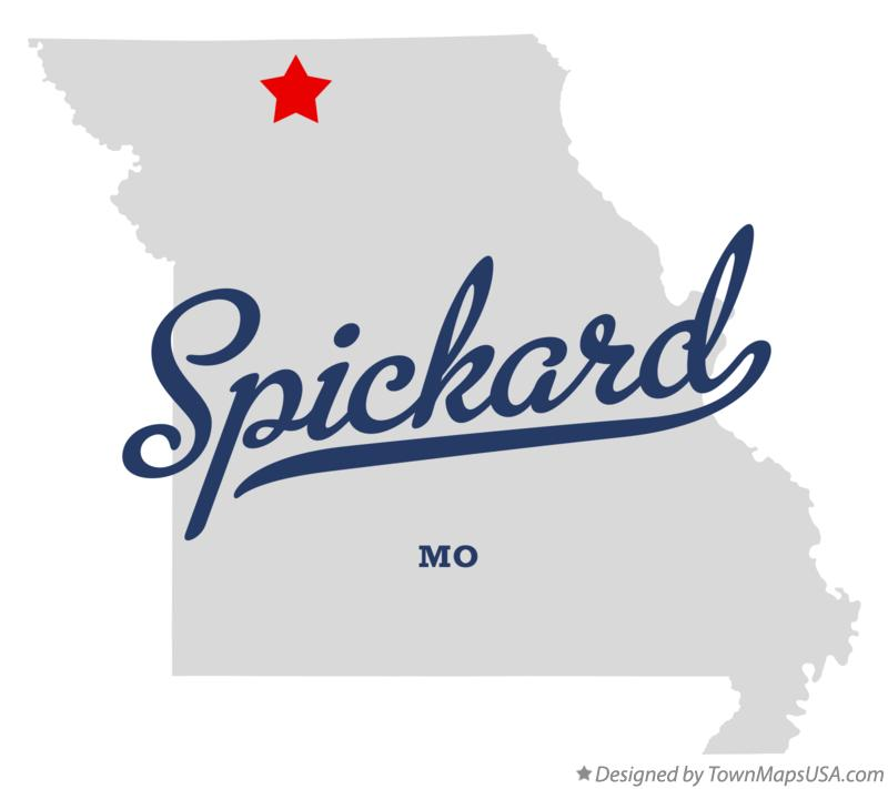 Map of Spickard Missouri MO