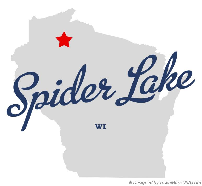 Map of Spider Lake Wisconsin WI