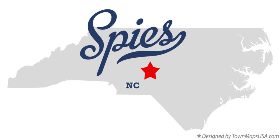Map of Spies North Carolina NC