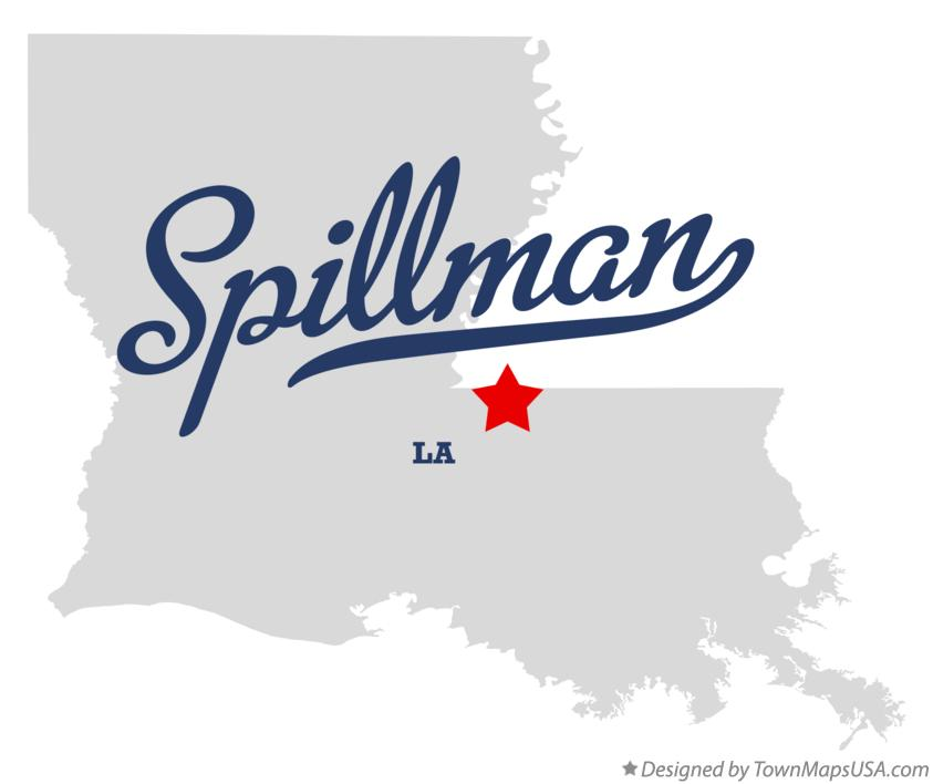 Map of Spillman Louisiana LA