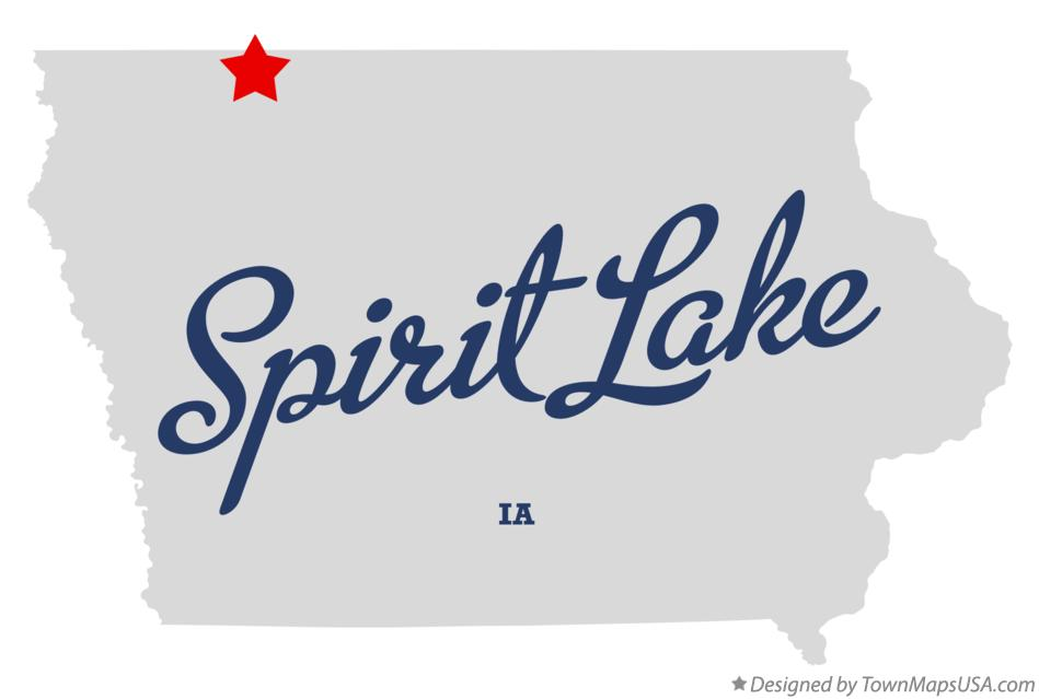 Map of Spirit Lake Iowa IA