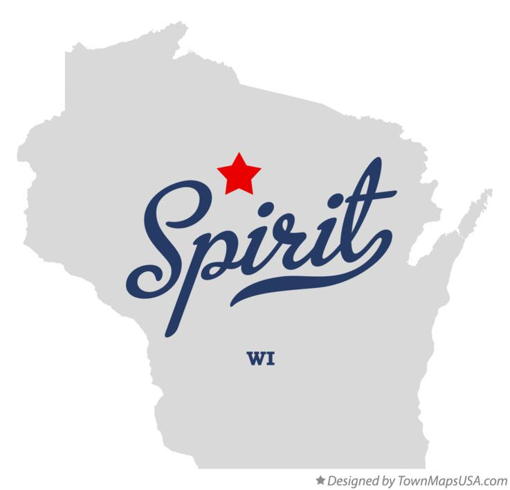Map of Spirit Wisconsin WI