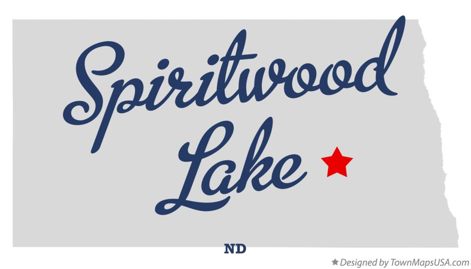 Map of Spiritwood Lake North Dakota ND