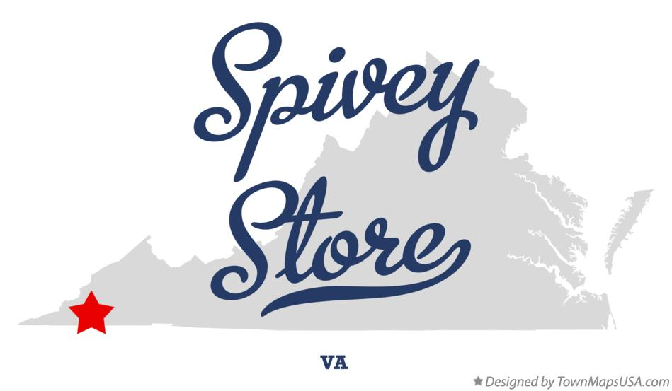 Map of Spivey Store Virginia VA