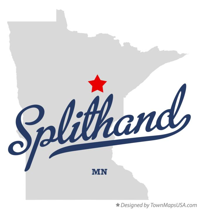 Map of Splithand Minnesota MN