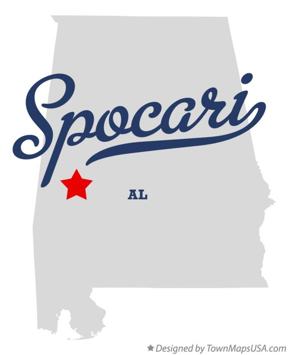 Map of Spocari Alabama AL