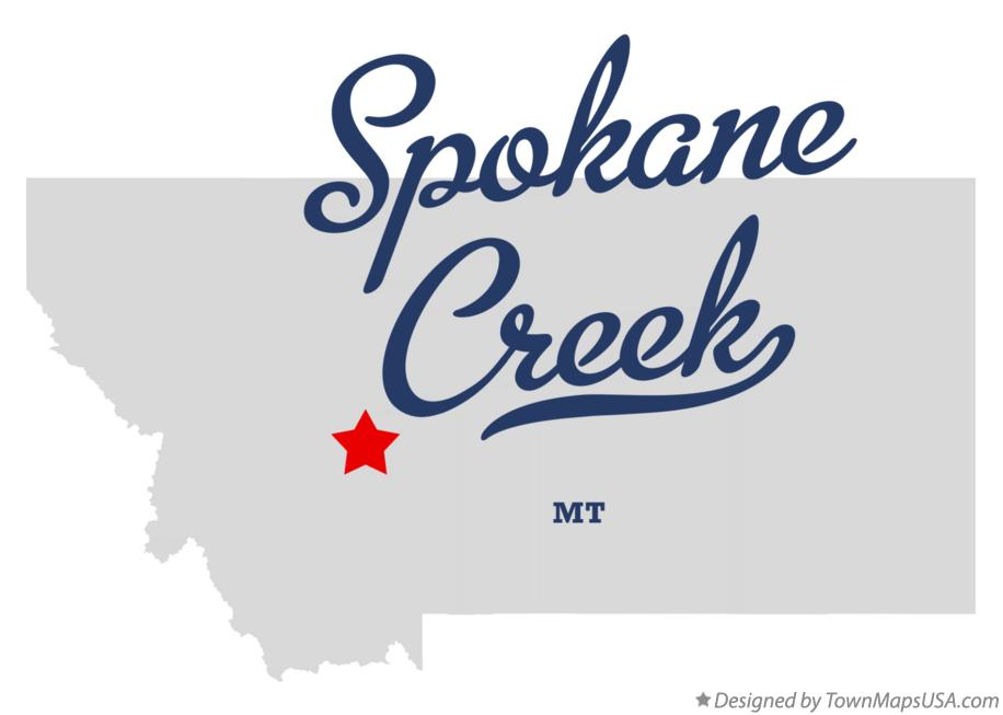 Map of Spokane Creek Montana MT
