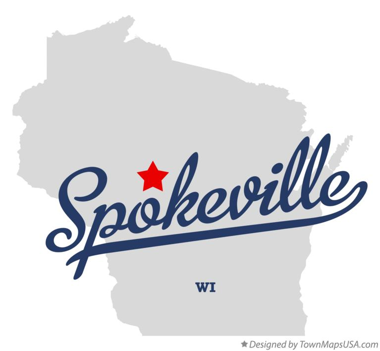 Map of Spokeville Wisconsin WI