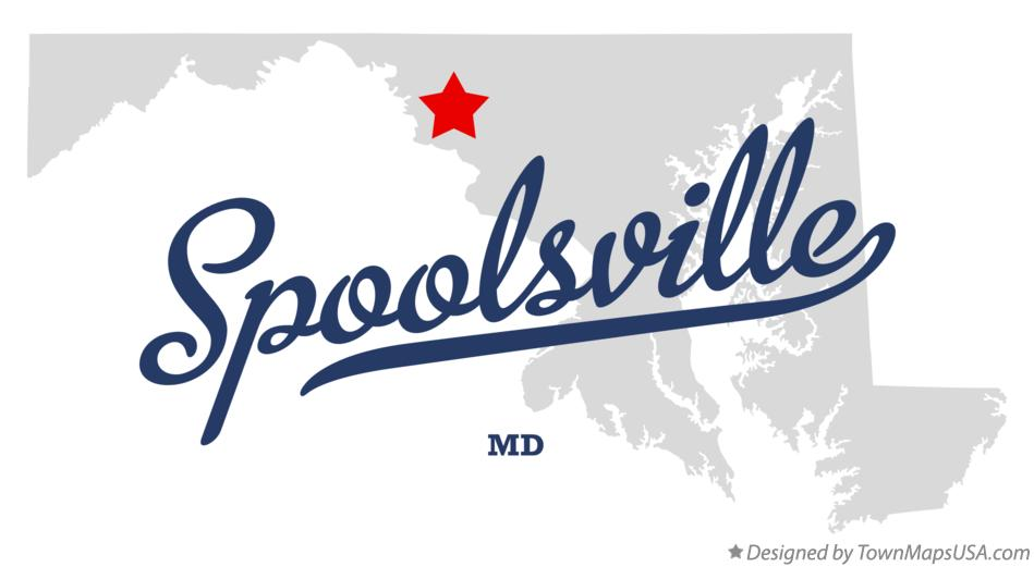Map of Spoolsville Maryland MD