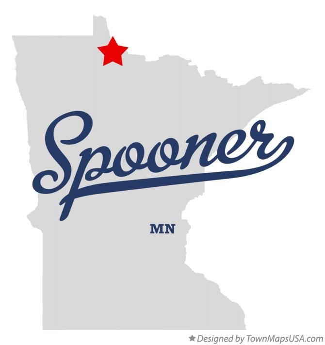 Map of Spooner Minnesota MN