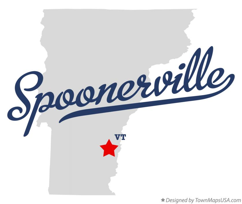 Map of Spoonerville Vermont VT