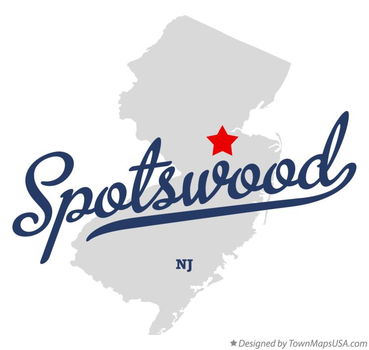 Map of Spotswood New Jersey NJ