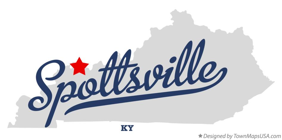 Map of Spottsville Kentucky KY