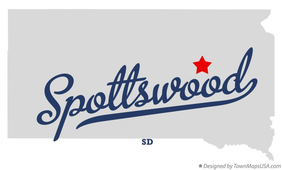 Map of Spottswood South Dakota SD
